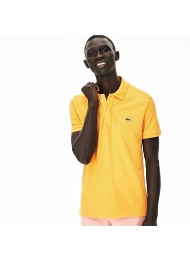 Lacoste Erkek Slim Fit Tişört PH4012.YZR Sarı